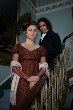 Hayley Atwell as Mary Crawford and Joseph Beattie as Henry Crawford in Mansfield Park (2007).