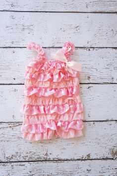 pink polka dot Lace petti romper - First birthday outfit - lace petti romper - Polka dot romper - Baby romper - Ruffle romper - Pink romper by PoshPeanutKids on Etsy https://www.etsy.com/listing/169259788/pink-polka-dot-lace-petti-romper-first
