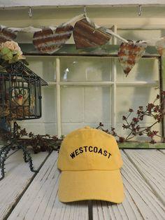 Vintage WESTCOAST Baseball Cap Low Profile Dad by TheHatConnection Vintage  Baseball Hats 7003fbb3cf4b
