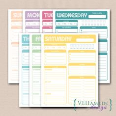 Printable Daily Planner Forest Of Green Instant Download  An