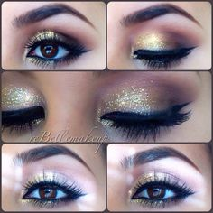 .@rebellemakeup | My Christmas Eve makeup inspired by my fave girl @vegas_nay ... #gold and w... | Webstagram