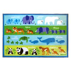 Olive Kids Endangered Animals Kids Rug - 5L x 7W ft. - 615416