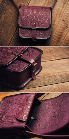 This purple leather shoulder bag is uniquie and gorgeous. I want it so badly! #bag #purple #ad #shoulderbag #crossbodybag #ethnic #leather #etsy