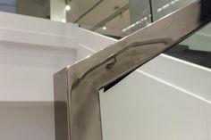 RVS lassen in het werk/stainless steel welding on site Mango men's store Lijnbaan Rotterdam Matel Metaal