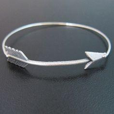 Silver Arrow Bracelet, Arrow Jewelry, Archery Jewelry, Archery Bracelet, Arrow Bangle Bracelet by FrostedWillow on Etsy https://www.etsy.com/listing/163378009/silver-arrow-bracelet-arrow-jewelry