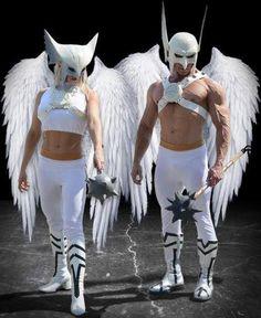 FULL COSPLAY!! • COSPLAY: Hawkman + Hawkgirl (white lantern...