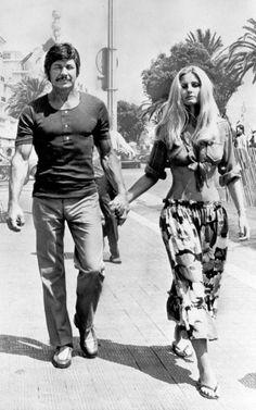 Charles Bronson and Jill Ireland - 1971 More memes, funny videos and pics on
