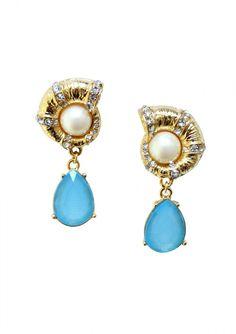 Seashell Statement Earrings 15,90€ #happinessbtq