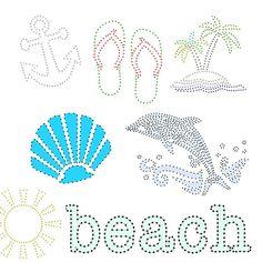 STRING Art Patterns 7 Templates BEACH palm by ACitySetOnAHill