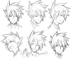 Fantasting Drawing Hairstyles For Characters Ideas. Amazing Drawing Hairstyles For Characters Ideas. Hair Reference, Drawing Reference, Manga Hair, Anime Hair Male, Really Curly Hair, Fantasy Character, Poses References, Estilo Anime, Face Expressions