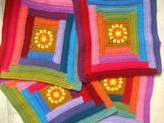 SUNNY BLANKET CAL 2015 - PART 2 (By Lucy from Attic 24) Starts Nov 8, 2015 - The Log Cabin Squares (which incorporates the Sunny Square from last week Part 1 of the CAL)