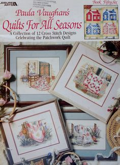 Paula Vaughan's QUILTS For ALL SEASONS - Book of Counted Cross Stitch Patterns  Charts