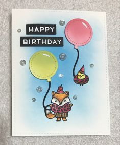 Fox Costume, Costumes, Paper Craft Making, Lawn Fawn Stamps, Happy Birthday, Crafting, Paper Crafts, Cards, Happy Brithday