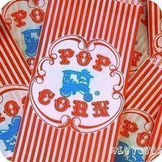 Retro Wagon popcorn bags circus or carnival party Diy Carnival, Circus Carnival Party, Carnival Wedding, Carnival Birthday Parties, Carnival Themes, Circus Birthday, Vintage Carnival, Circus Theme, Vintage Circus