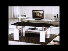 Kontrast coffee table in black glass with white high gloss legs - 15693 glass coffee table for your living room, modern & contemporary. Tempered glass shaped in. Black Glass Coffee Table, Coffee Table Rectangle, Coffee Tables, White Coffee, Black Dining Room Chairs, Wayfair Living Room Chairs, Contemporary Living Room Furniture, Contemporary Coffee Table, Stylish Coffee Table