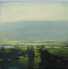 """rich bowman - """"hidden lake"""", oil on canvas."""