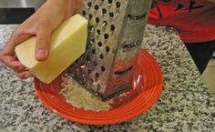 5 Must-Know Kitchen Hacks for Cooking Spray - Cheese grater, knife while cutting herbs or onions, tupperware before spaghetti sauce goes in, freezer to prevent ice build up