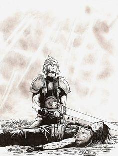 Cloud Strife and Zack Fair. Fan art. Final Fantasy VII: Crisis Core.