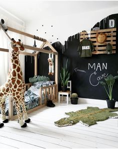 For everyone asking for BOYS room inspo here you go nailed it Boy Toddler Bedroom, Toddler Rooms, Baby Bedroom, Baby Boy Rooms, Baby Room Decor, Nursery Room, Boys Jungle Bedroom, Toddler Boy Room Ideas, Baby Boy Bedroom Ideas