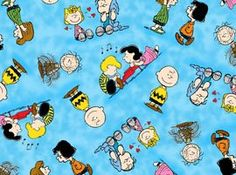 Amazon.com: Peanuts HAPPINESS IS Blue 1649-22065 Quilting Treasures Fabric By the Yard: Arts, Crafts & Sewing