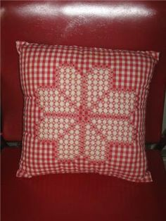 Vintage Red and White Gingham Chicken Scratch by SavvyFlair, $8.00