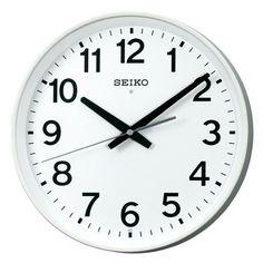 SEIKO CLOCK (セイコークロック) 掛け時計 電波 アナログ オフィスタイプ 白 KX317W