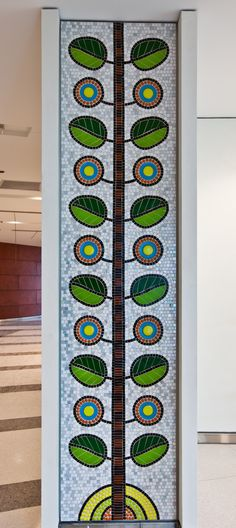 Public Art in Chicago: Ann & Robert H. Lurie Children's Hospital of Chicago [Forest of Hope - by David Lee Csicsko] Mosaic Wall, Mosaic Glass, Mosaic Tiles, Mosaic Crafts, Mosaic Projects, Stained Glass Panels, Stained Glass Art, Mosaic Windows, Mosaic Flowers