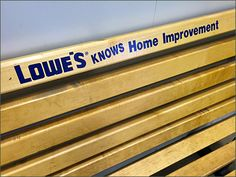 Lowes Knows Logo Branded Bench Detail