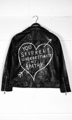 Apathy Leather Jacket #disturbiaclothing disturbia leather Jacket biker metal alien goth occult grunge alternative punk apathy http://bellanblue.com