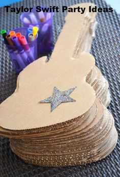Decorate your own guitar before the school disco.
