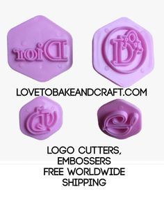 DIOR cutter DIOR logo Dior embosser Designer logo Dior logo cutter DIOR logo embosser Perfect embossers for cake decorating and cookies SET OF 4 Food Chanel Cookies, Chanel Cupcakes, Chanel Cake, Cupcake Tutorial, Cake Topper Tutorial, Fondant Tutorial, Chanel Birthday Cake, Themed Birthday Cakes, Fondant Stamping