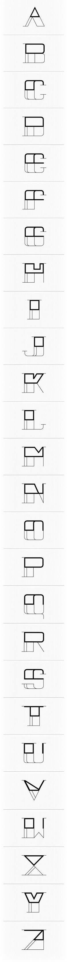 MODERN Typeface by Conner Smith, via Behance