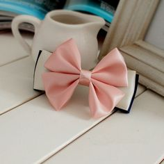 My Colour 100% Handmade Elegant pink satin bow Hair Accessories Hair Barrette >>> Check this awesome product by going to the link at the image.