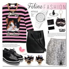 """""""Feline Fashion-yoins 3.12"""" by cly88 ❤ liked on Polyvore featuring Gucci, Kate Spade and John Lewis"""