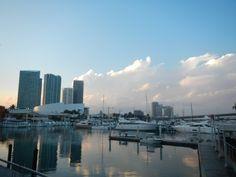 bayside+miami+agua+edificios primer viaje a miami New York Skyline, Florida, Travel, Hotels, United States, Buildings, Aqua, Places, Pictures