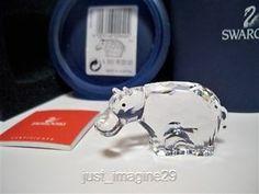 Swarovski Crystal Hippo Retired 622940 BNIB COA | eBay