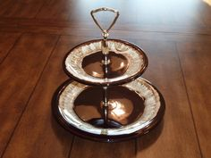 Vintage Mid Century Two Tiered Serving Tray by labaublesandbags, $23.00