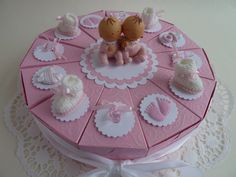 XXL-Torte,  zur Taufe, Geschenkverpackung, Zwil... von IdeenOase auf DaWanda.com