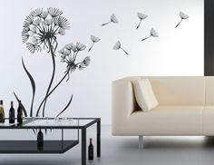 Wandtattoo Pusteblume 3, Gr.37x60cm mit Schirmchen von Dekortattoo auf DaWanda.com