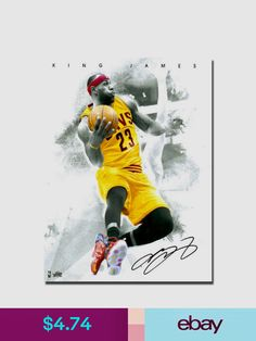 3555b4e0de70 NBA Lebron james LBJ Cleveland Cavaliers 3 Art Silk Canvas Poster inch  Basketball Picture For Room Decor