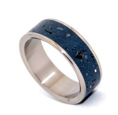 Mens Mother Of Pearl Inlay Tungsten Wedding Rings 8mm