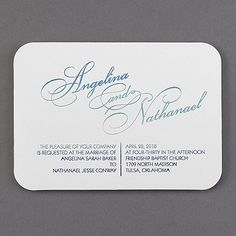 Color shades into color and makes every invitation one of a kind. A great way to show your unique style. Ombré foil gleams on white shimmer paper.