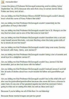 The rest of the teachers may have something to fear. Minerva McGonagall​ only has to raise one eyebrow at James II for him to settle down because she has earned his respect years ago. (Professor Longbottom has his respect too, but tends to be more lenient on his students because he is inexperienced and doesn't want to be like Snape.)