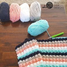 Ever So Striped Crochet Baby Blanket Pattern by Rescued Paw Designs   Click to Read or Pin and Save for Later!