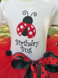 Ladybug Birthday Bug Tutu Set Includes Matching by avannabelbaby, $49.99