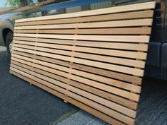 Transform your home with our range of contemporary slatted screen fencing and slats. The fence panels are available in Cedar, Larch and Tanalised. Slatted Fence Panels, Garden Fence Panels, Diy Fence, Backyard Fences, Fence Ideas, Backyard Ideas, Wood Fence Design, Privacy Fence Designs, Contemporary Garden Design