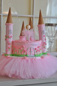Ballerina princess castle cake.