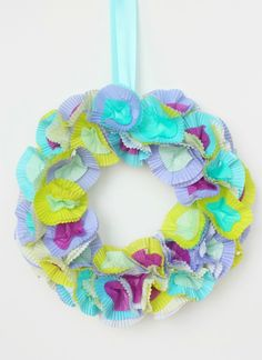 Cupcake Liner Wreath | Whimseybox