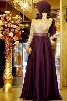 Pınar Şems Mor Kabarık Büyülü Abiye Elbise