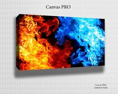 Hey, I found this really awesome Etsy listing at https://www.etsy.com/listing/174855151/fire-water-canvas-print-digital-printed